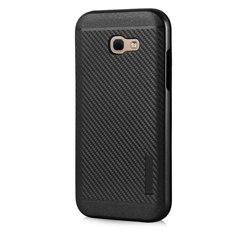 Totu Slim Soft For Samsung A3 2017 Casing Cover Black carbon slim armor hybrid rugged cover with built in magnetic metal plate for samsung galaxy