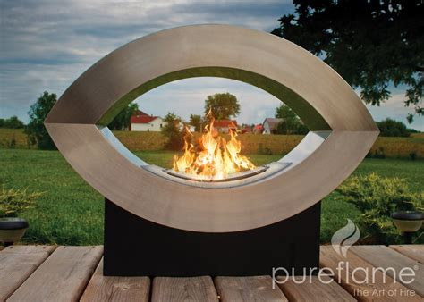 Biofuel Outdoor Fireplace by 30 7 Quot Ellipse Of Ethanol Biofuel Outdoor Floor Fireplace