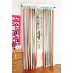 Bright Colorful Kitchen Curtains Your Zone Chino Curtains Set Of 2 Bright Stripe Walmart