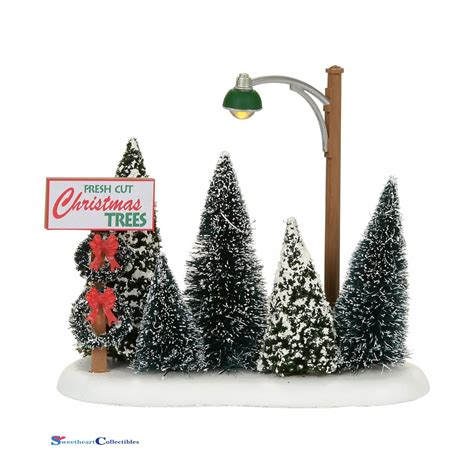 dept 56 snow village 4054239 christmas tree lot 2017 ebay