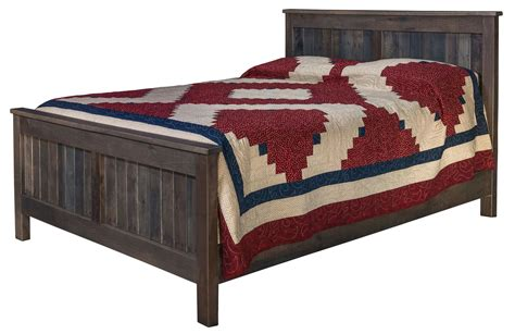 Farmhouse Bed by Pallet Wood Farmhouse Bed