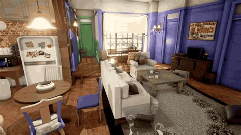 monica s apartment friends monica s apartment from friends looks amazing rendered in