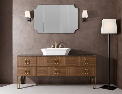 high end bathroom vanity daphne d6 high end italian bathroom vanity in walnut wood