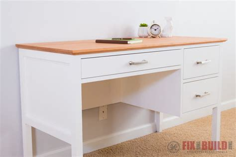how to build a desk with drawers diy desk with drawers fixthisbuildthat