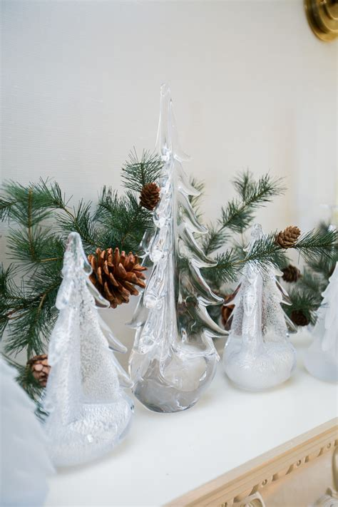 simon pierce glass cmas trees decorate your dining room for fashionable hostess