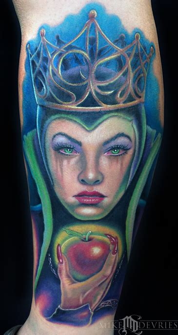 tattoo evil queen evil queen tattoo by mike devries tattoos