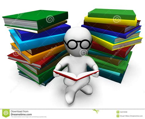 learning books student reading books shows learning royalty free stock