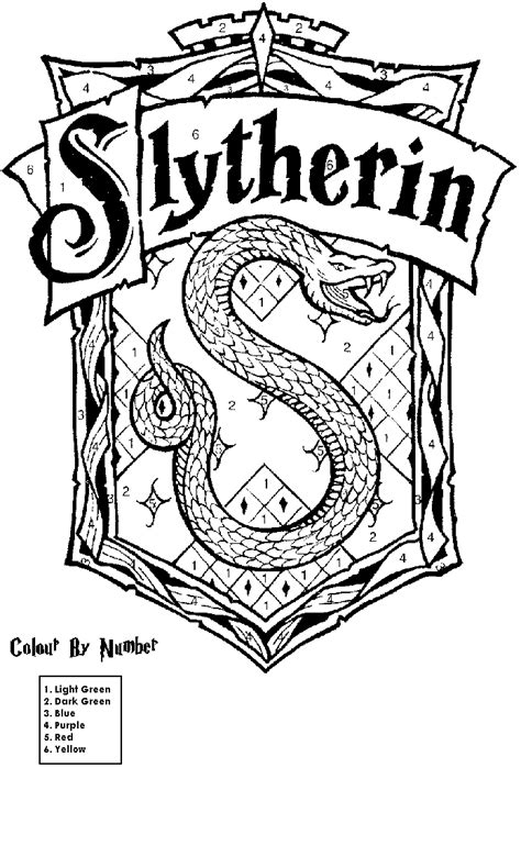 harry potter coloring pages gryffindor slytherin harry potter coloring pages