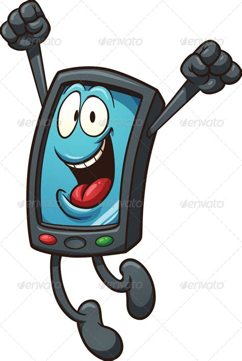 cartoon themes cell phone happy smartphone by memoangeles graphicriver