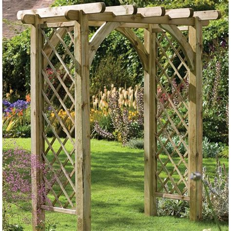 Garden Arch Ultima Wood Pergola Garden Arch The Garden Factory