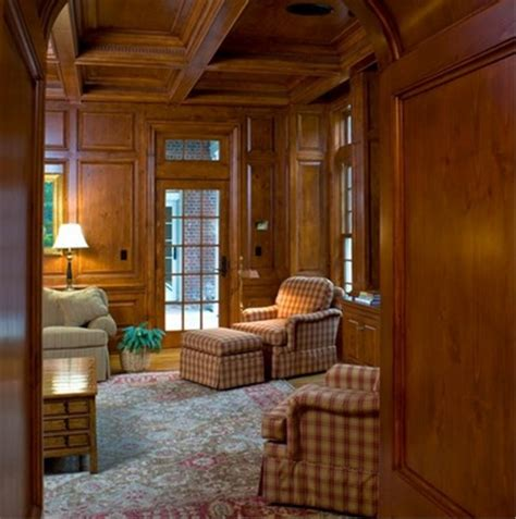 librerie di montagna boiserie su misura in legno tinto stile classico in