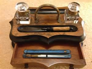 Antiques Atlas Wooden Desktop Writing Set Antique Desk Accessories