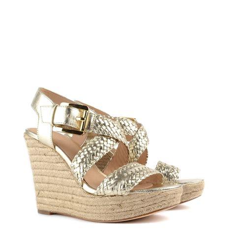 michael kors giovanna wedge sandal michael michael kors giovanna pale gold wedge sandal