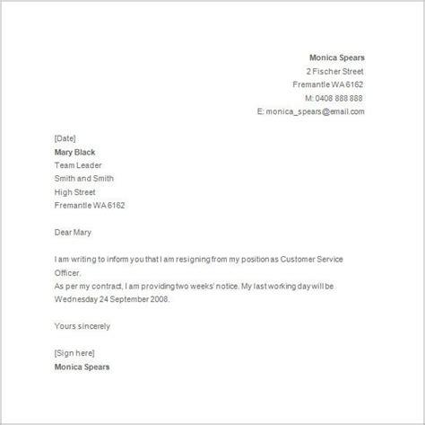 write letter resignation uk write