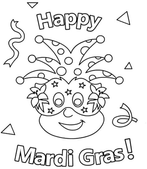 mardi gras coloring pages free coloring pages for kids 8