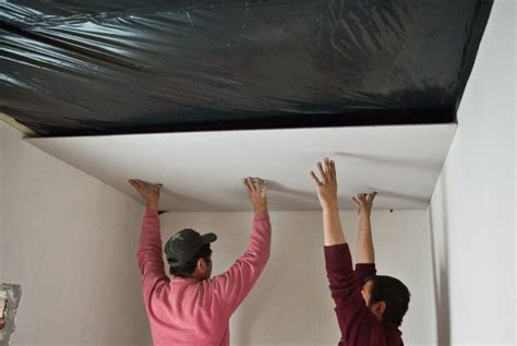 hang drywall ceiling how to install drywall ceiling howtospecialist how to