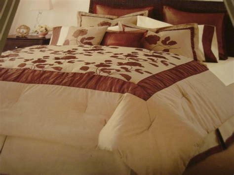 kohls queen comforter sets kohl s ophelia queen comforter set bed in a bag brown taupe