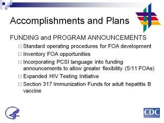 section 317 immunization program pcsi actions and plans dc meeting report pcsi