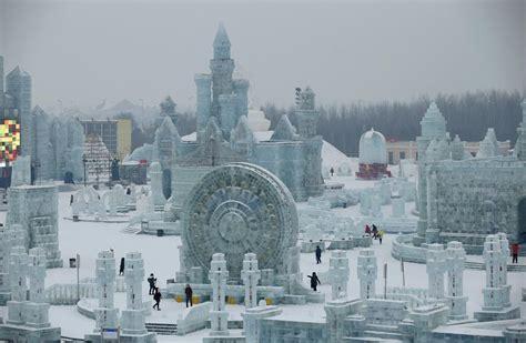 ice city in pictures china s frozen city al jazeera