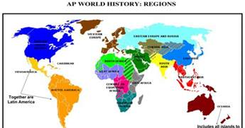 Ap World Regions Map by Ap World Regions Map And Time Periods Google Slides