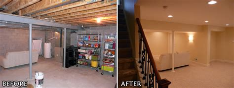 before and after photos basement renovations toronto