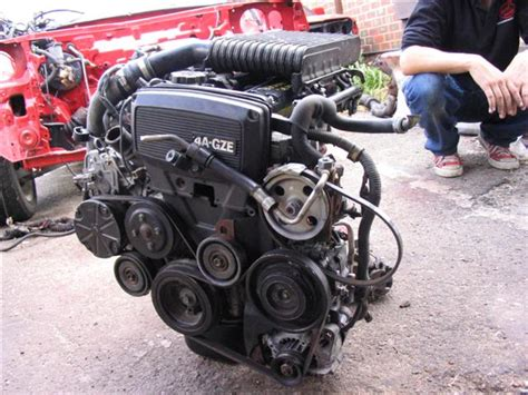 575 Block Toyota Great Corolla 4a 4afe alternator and bracket onto 4agze block aexx