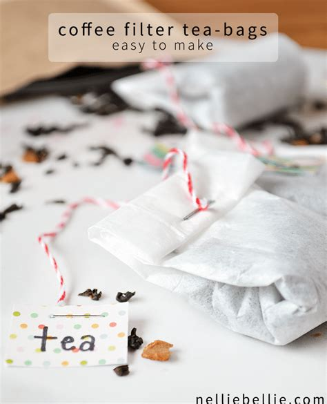 how to use tea bags diy tea bags how to make tea bags from coffee filters or