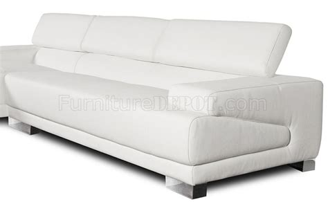 Sofa Melody melody sectional sofa in white leather by whiteline imports