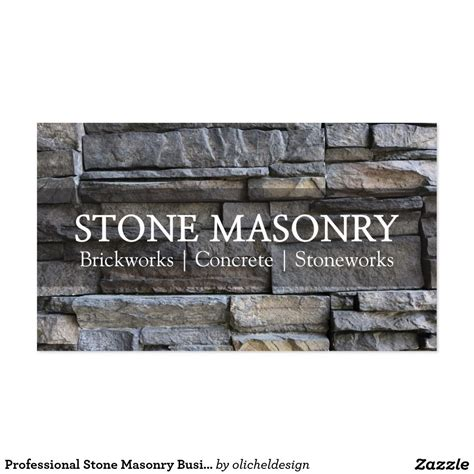 Masonry Business Cards
