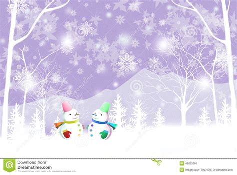 merry christmas background with couple snowman graphic