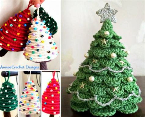 crochet christmas trees lots of free patterns the whoot
