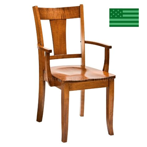 Dining Room Chairs Made In Usa Amish Solid Wood Heirloom Furniture Made In Usa Arm Chair American Eco Furniture