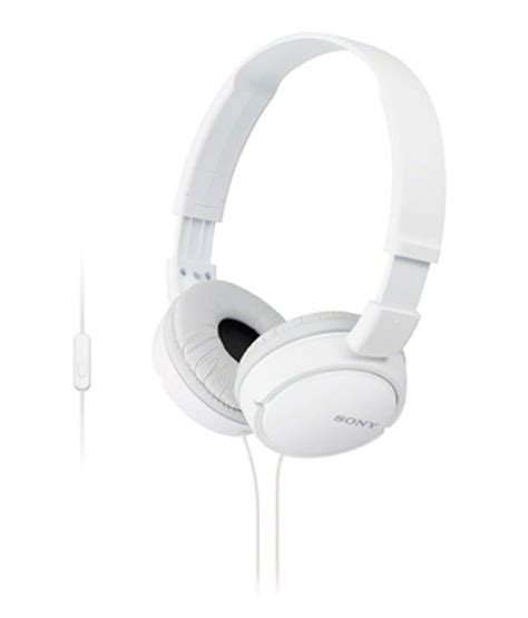 Headset Sony Mdr Zx110a Harga buy sony mdr zx110a ear headphone with mic white at best price in india snapdeal
