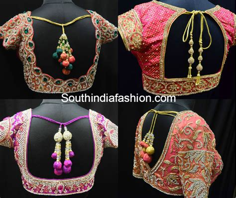 blouse neck designs for wedding saree back neck blouses fashion trends south india fashion