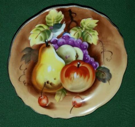 Lefton China Hand Painted Vase Vintage Hand Painted Lefton China Fruit Plate 8 Ne 6927