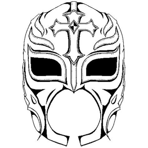 wwe lucha dragons coloring page coloriage masque de rey mysterio en ligne gratuit 224 imprimer