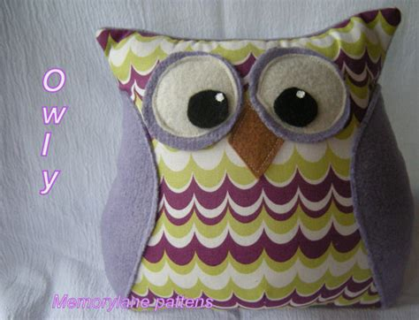 owl pillow pattern set hooter the owl pdf tutorial and bonus owl pillow sewing pattern pdf instant download nursery gift
