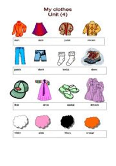 clothes for different seasons worksheet english teaching worksheets clothes