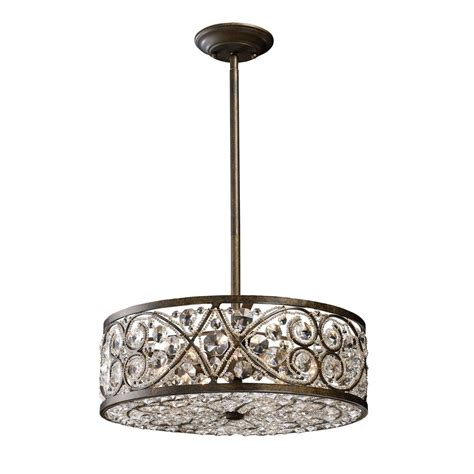 titan lighting 6 light ceiling mount antique bronze