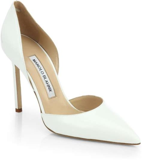 Manolo Blahnik Patent Dorsay by Manolo Blahnik Tayler Patent Leather D Orsay Pumps In