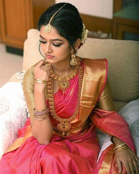 which colour blouse suits for pink saree 21 best contrasting blouses for pink silk sarees keep me