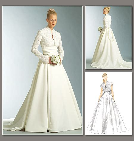 Wedding Dress Patterns by V2979 Misses Misses Dress And Sash Bridal