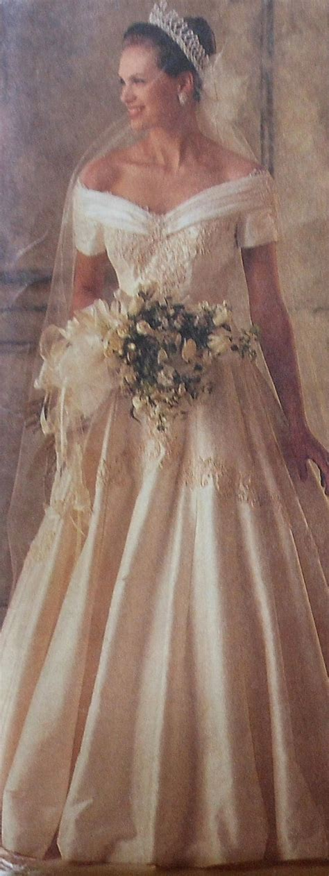 sewing pattern wedding dress wedding gown sewing pattern uncut mccalls 6951 size 10 off