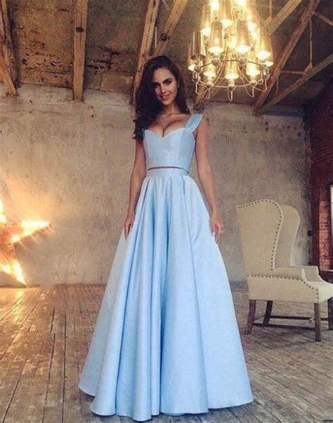 light blue evening dress formal dress pretty light blue prom dress a line