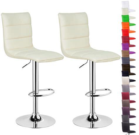 kitchen bar stools swivel 2 x bar stools kitchen chair swivel breakfast stool chrome barstools cream u021 ebay