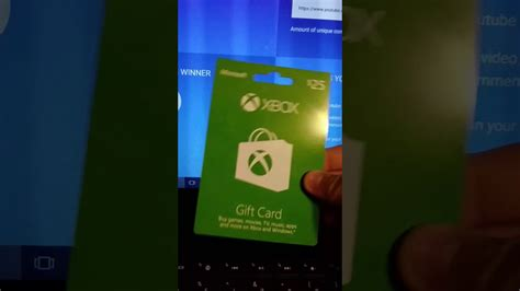 Free 5 Dollar Xbox Gift Card - winner of the 25 dollar xbox gift card is youtube