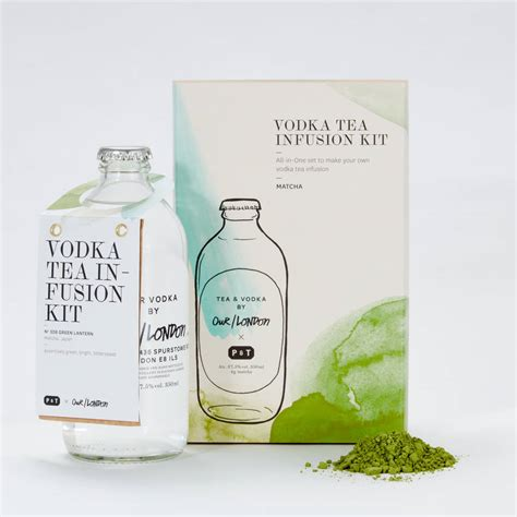 Kit Green Tea Original vodka and matcha tea infusion kit by our