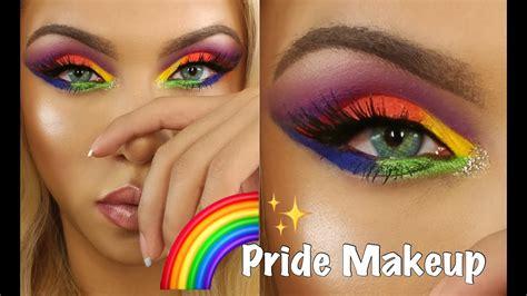 makeup tutorial queer lgbtq pride makeup tutorial rainbow eyeshadow youtube