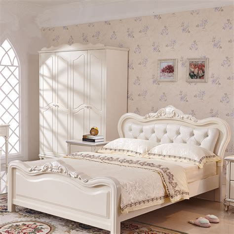 ivory french style bedroom furniture french luxury bed ivory white flannel real wood bed