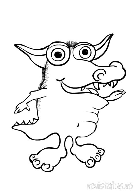 cute monster coloring page for kids coloring 10888